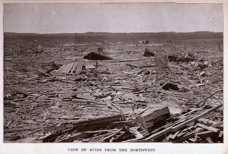 1893 Tornado Damage in Pomeroy, Iowa