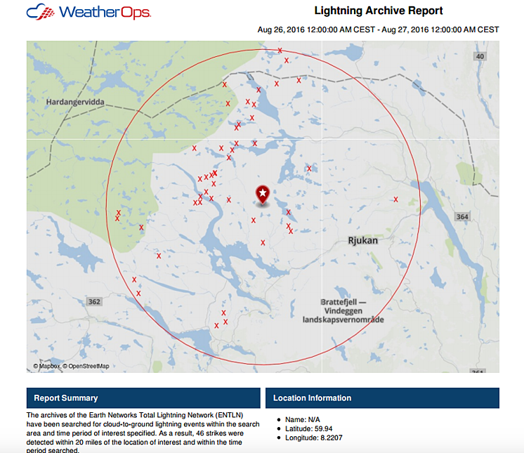 Lightning Archive for Norway