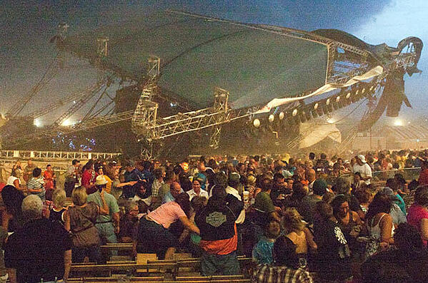 Indiana State Fair Stage Collapse Due to Wind (AP)