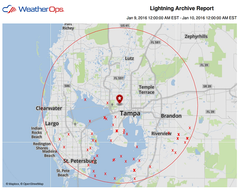 Lightning Strikes Map Florida.Roaring And Rolling Tampa S History With Lightning And Football