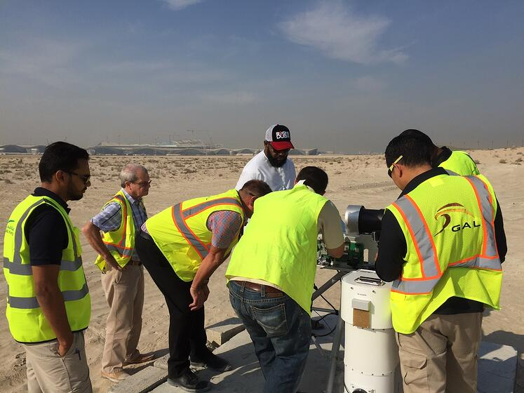 Training the technicians how to maintain the radiometer