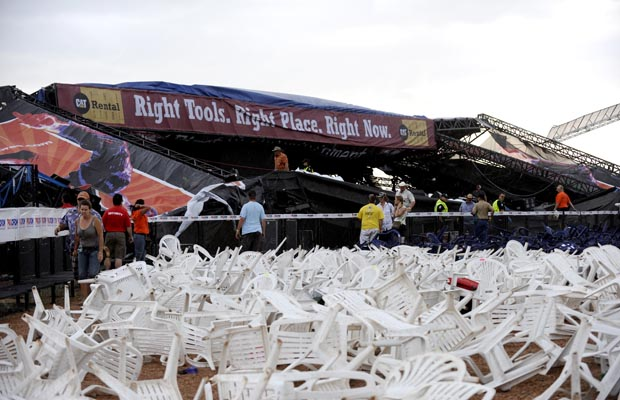 Stage Collapse at Big Valley Jamboree