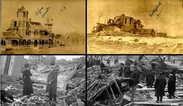 1913 Tornado Destruction - Nebraska