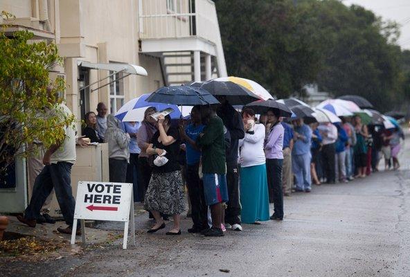 Voting in the Rain