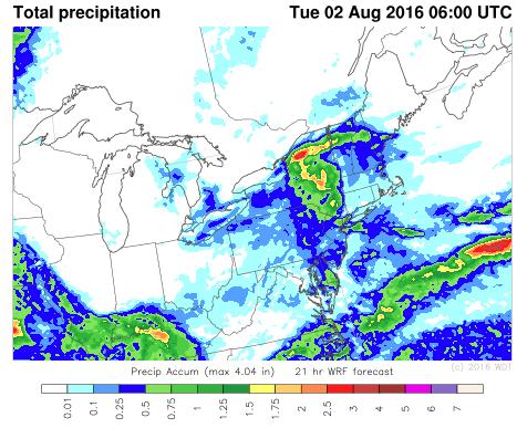 Total Precipitation through 2am EDT Tuesday