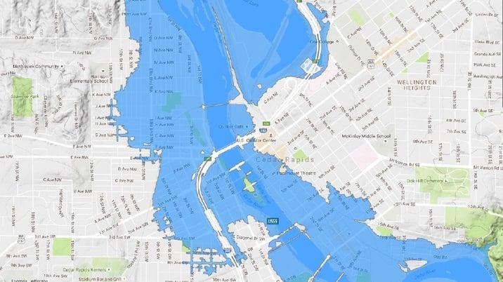 Cedar Rapids Evacuation Zone
