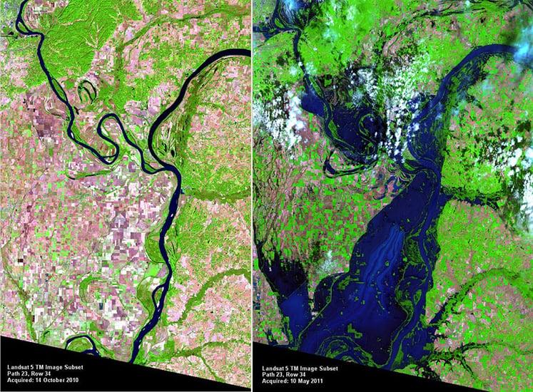 2011 Landsat Image of the Mississippi