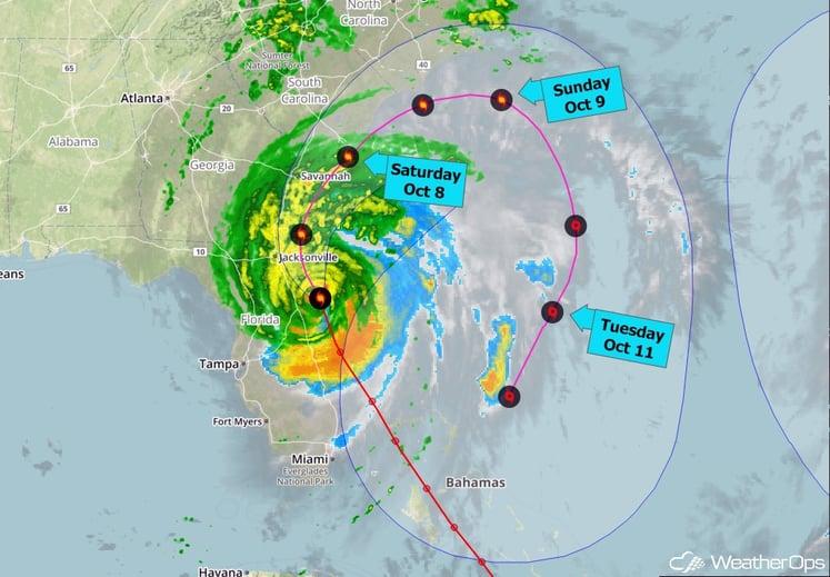 Hurricane Matthew Forecast Track - Oct 7, 2016