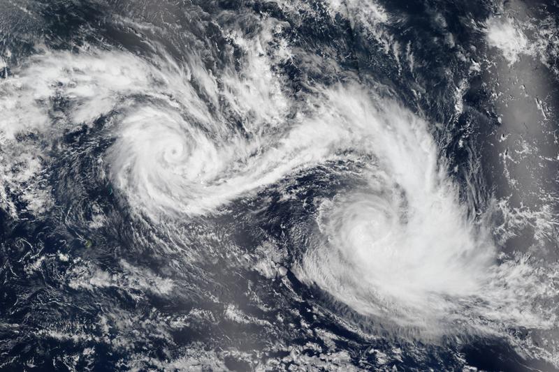 Fujiwhara Effect- an odd weather term
