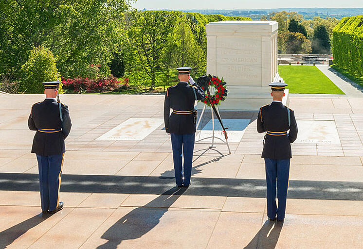 Guarding the Tomb of the Unknowns in the Heat