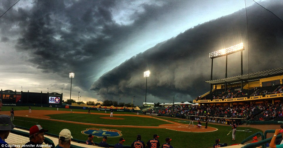 Gust Front Approaching Baseball Game