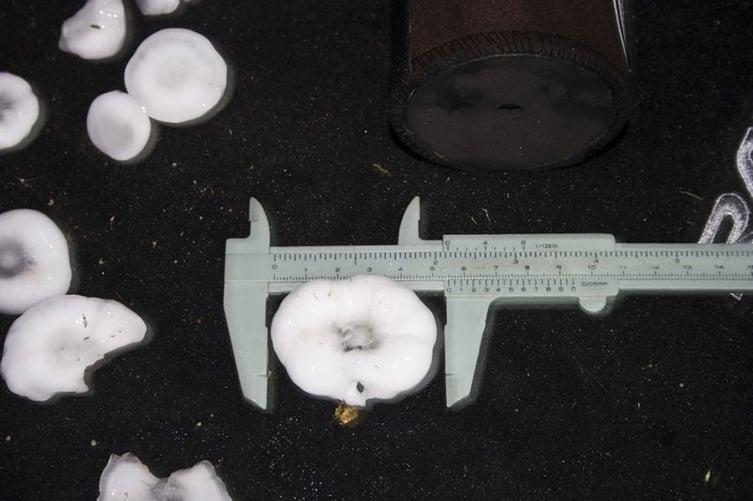 Caliper Measuring Hail