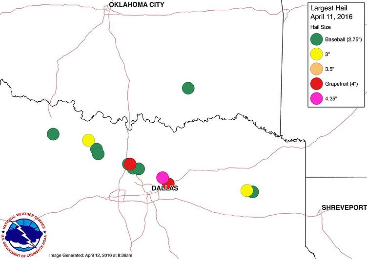 NWS Hail Reports