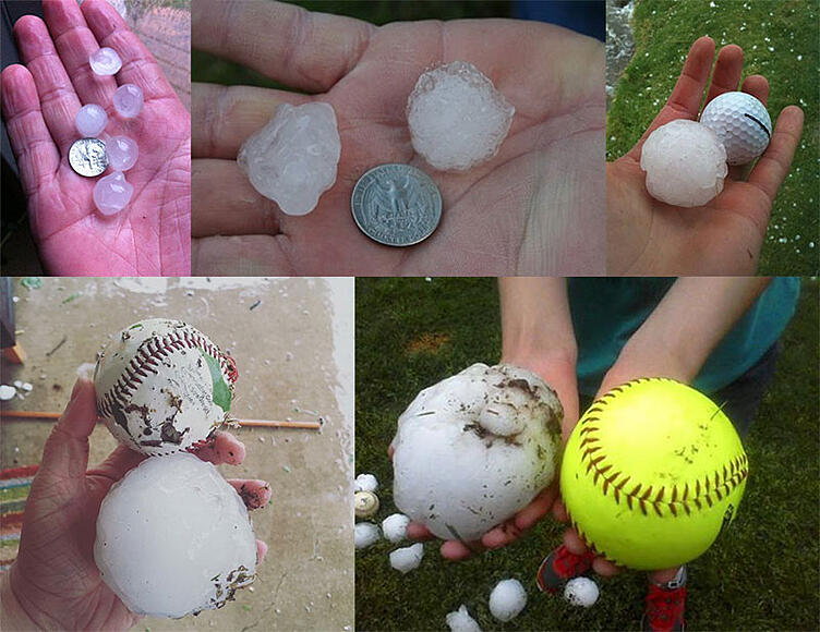 Hail of Various Sizes