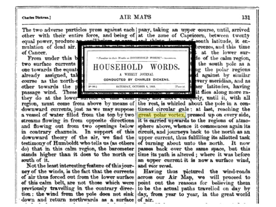 Polar Vortex in Household Words 1853