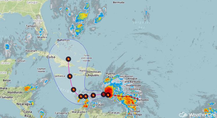 Hurricane Matthew Track Forecast