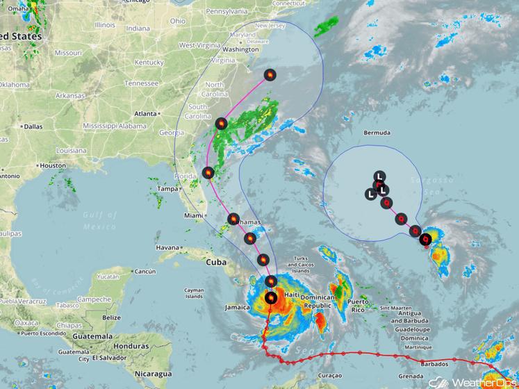 Forecast Track for Hurricane Matthew