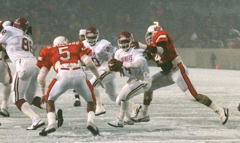 OU-OSU 1985 Ice Bowl (courtesy Tulsa World)