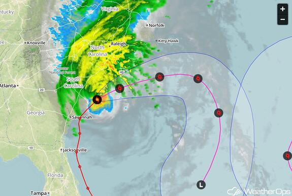 Hurricane Matthew Track Forecast 10-8