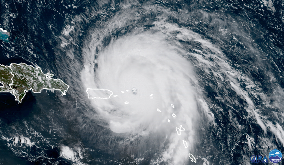 Irma as a Cat 5 Hurricane on September 6, 2017
