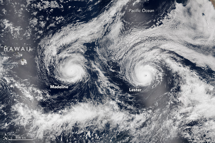 Hurricanes Madeleine and Lester