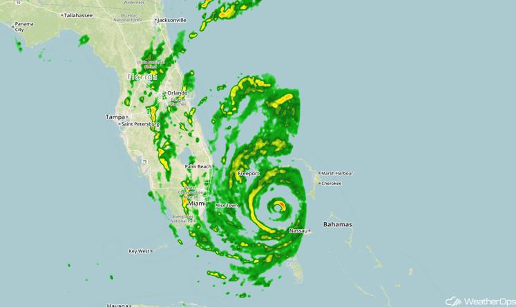 Matthew Radar Image 2:24pm EDT 10/6/16