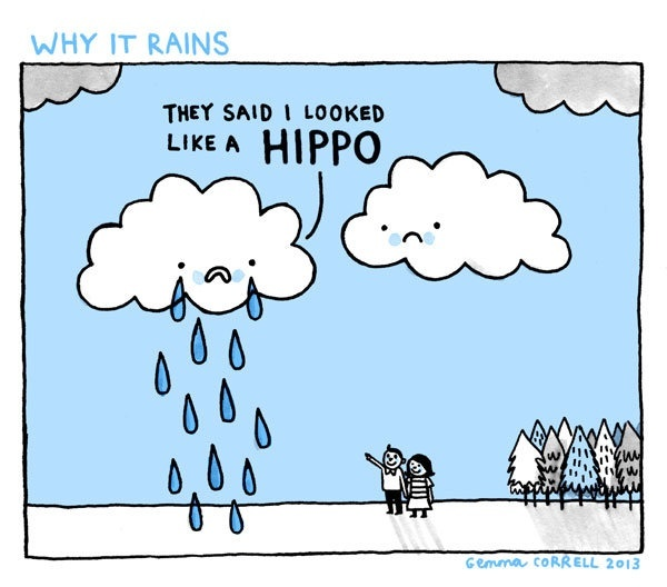 Gemma Correll Rain Cartoon