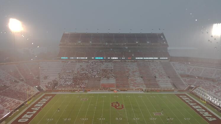 Fans in a severe thunderstorm