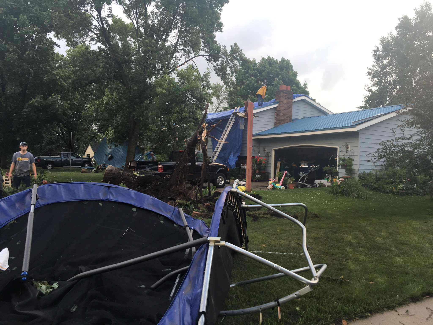 Tornado damage in Litchfield, Minnesota