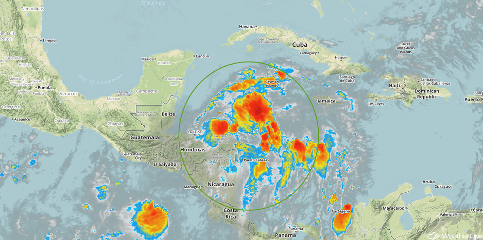 Enhanced Infrared Tropical Satellite 10/27/17
