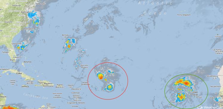 Tropical Infrared Satellite for Tuesday, September 20, 2016