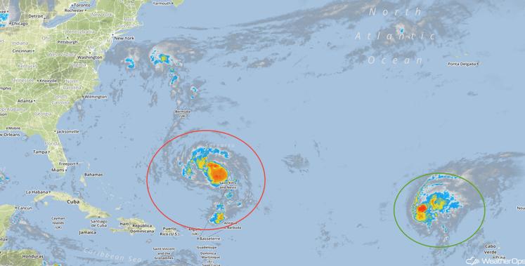 Tropical Infrared Satellite Thursday, September 22, 2016
