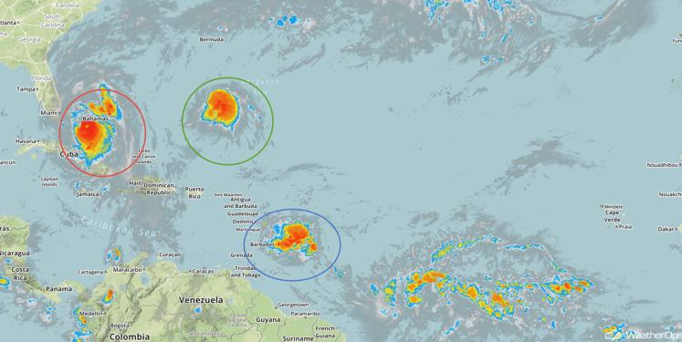 Tropical Infrared Satellite for Thursday