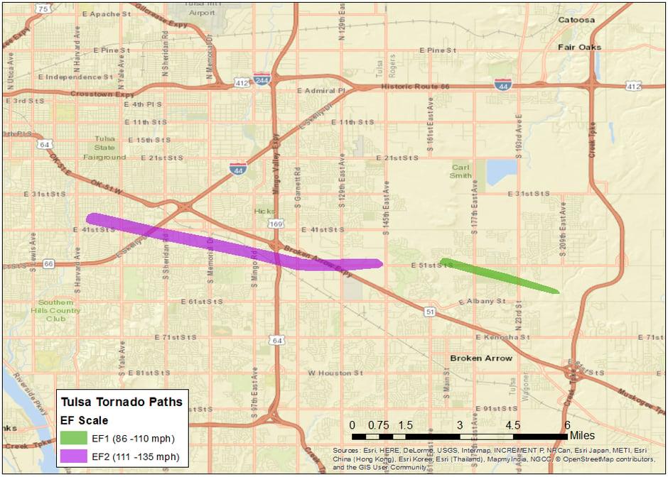 Tulsa Tornado Paths