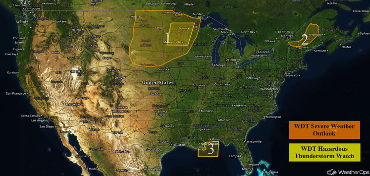 US Hazards for Wednesday, August 10, 2016