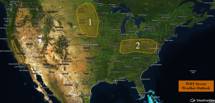 US Hazards for Monday, August 15, 2016