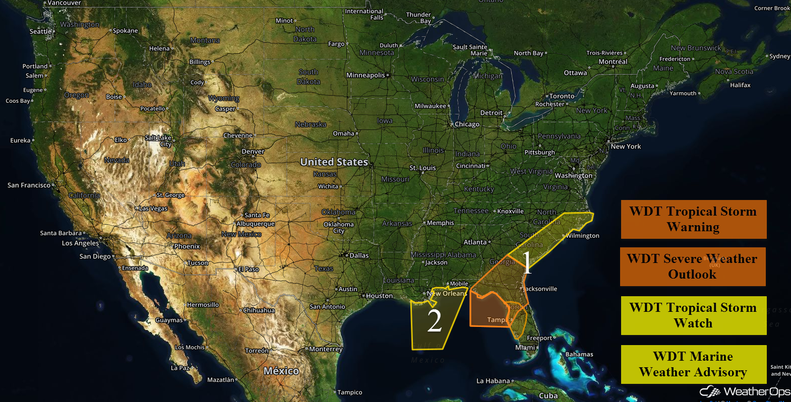 US Hazards for Wednesday, August 31, 2016