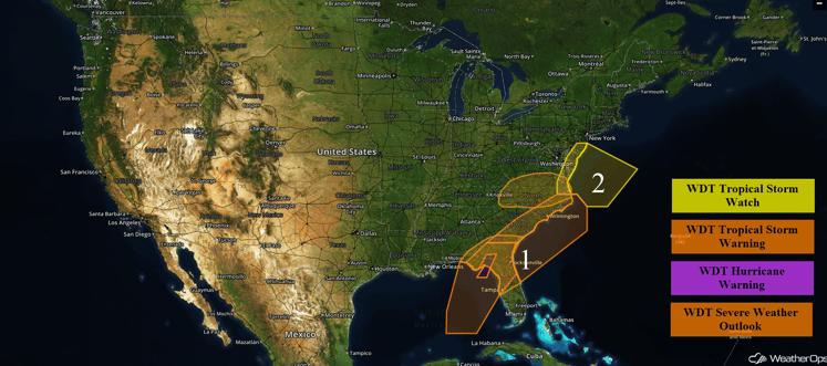 US Hazards for Thursday, September 1, 2016