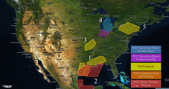 US Hazards for Tuesday, February 23, 2016
