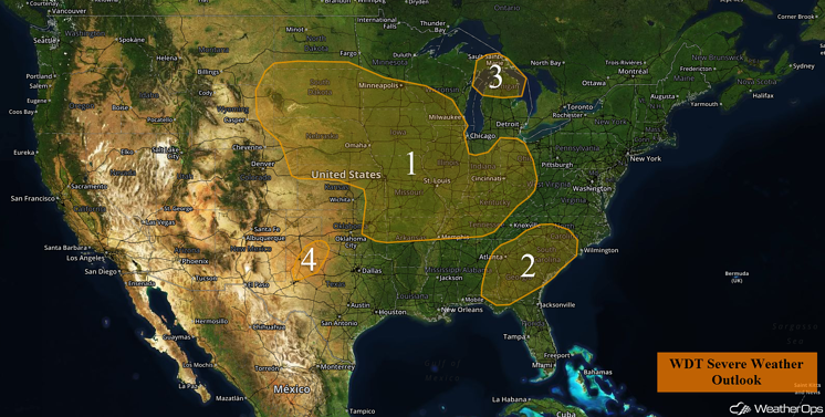 US Hazards for Wednesday, July 6, 2016