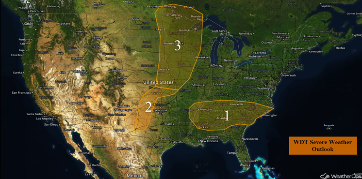 US Hazards for Monday, July 11, 2016