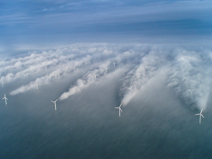 Wind Turbines in Fog