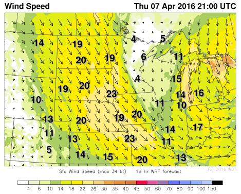 WDT WRF Winds Thursday, April 7, 2016