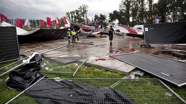Wind Damage at Festival