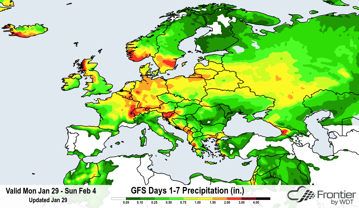 Frontier GFS Days 107 Precipitation Forecast