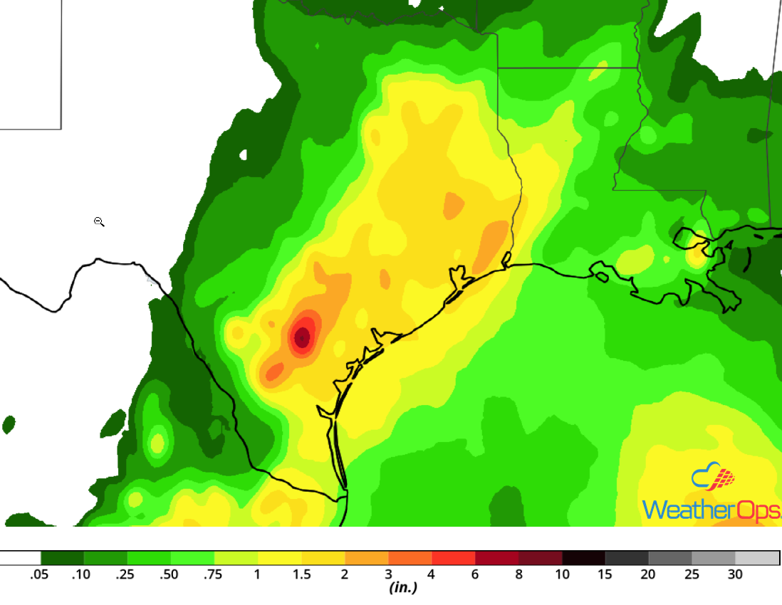 Rainfall Accumulation September 11-12, 2018