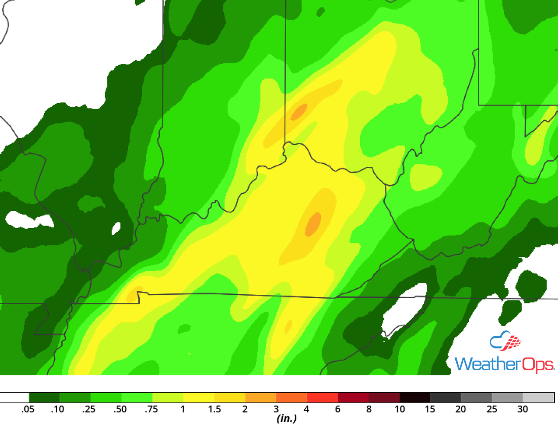 Rainfall Accumulation for Monday, September 24, 2018