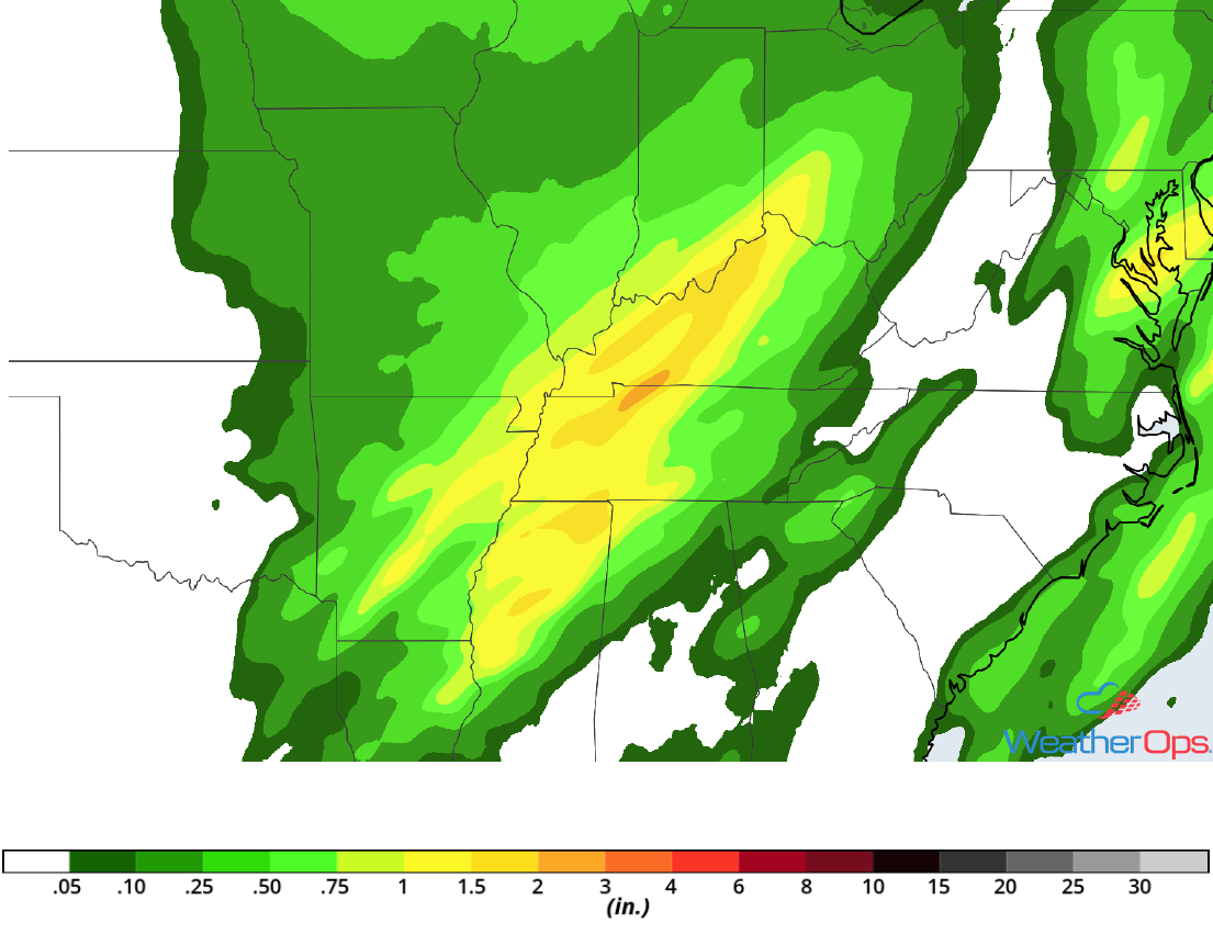 Rainfall Accumulation for Monday, November 5, 2018