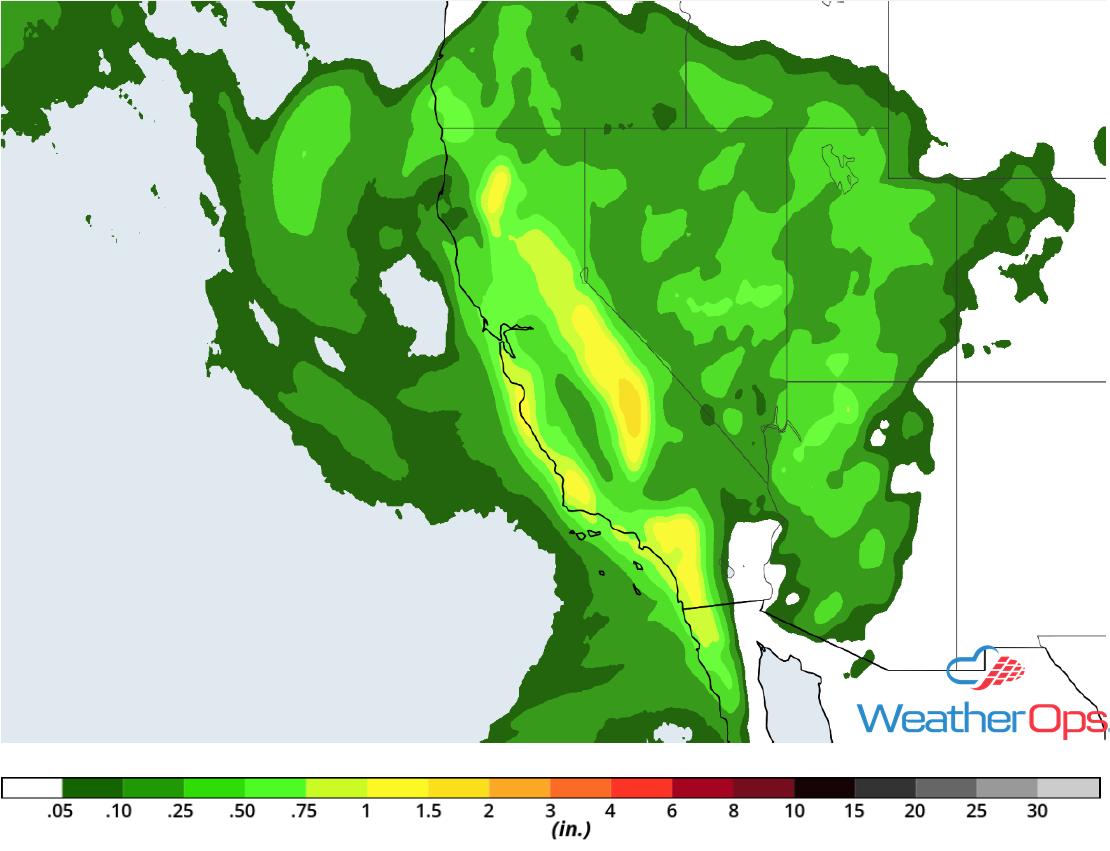 Rainfall Accumulation for Thursday, November 29, 2018