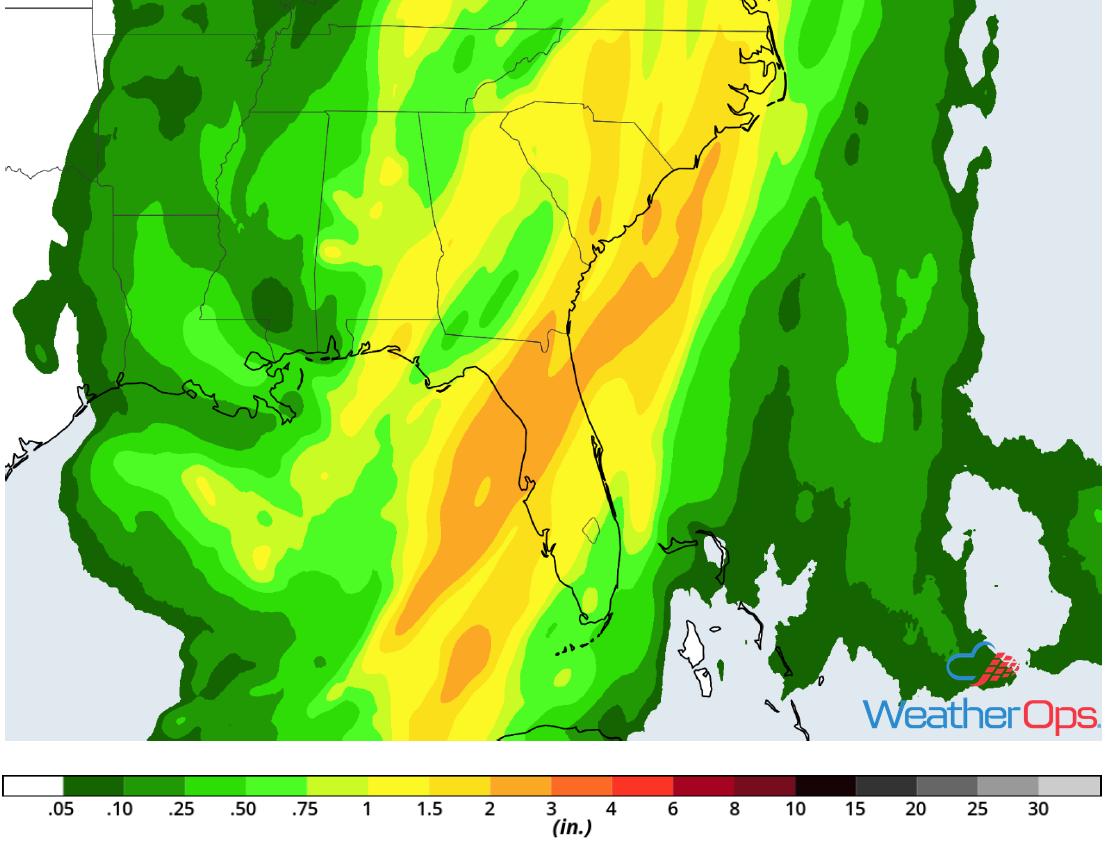 Rainfall Accumulation for Wednesday, December 19, 2018